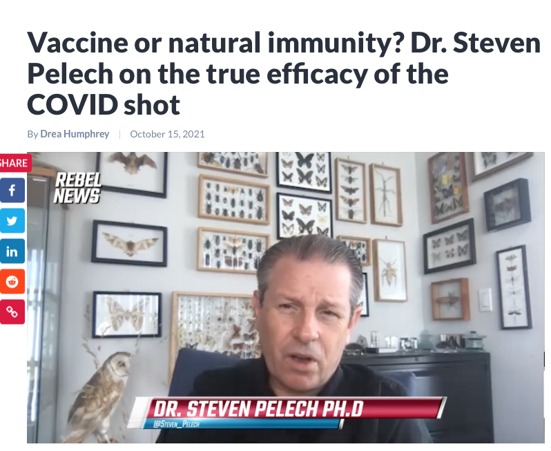 Vaccine or natural immunity? Dr. Steven Pelech on the true efficacy of the COVID shot